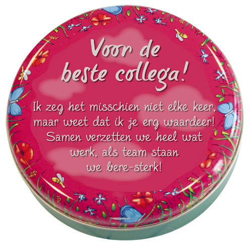 Lovely Tins 47 Voor De Beste Collega